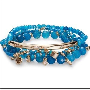 KENDRA SCOTT Supak bracelet in blue and gold